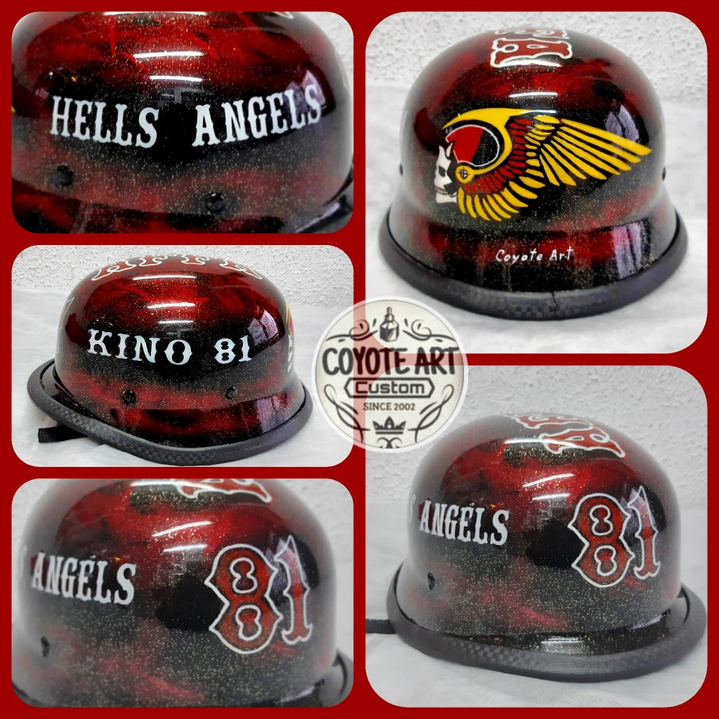 aerografia casco hells angels